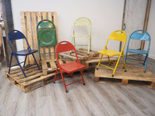 Load image into Gallery viewer, Vintage Reclaimed Folding Chair - Six Colours