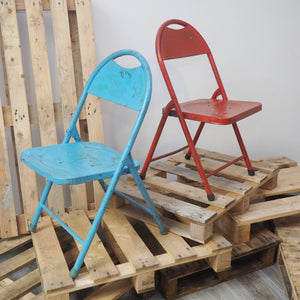 Vintage Reclaimed Folding Chair - Six Colours