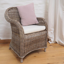 Load image into Gallery viewer, Natural Wicker Tub Chair