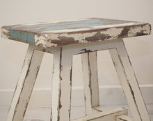 Load image into Gallery viewer, Vintage White Wash Stool