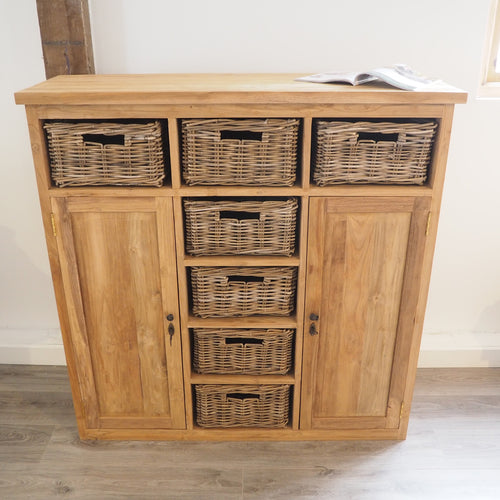 Reclaimed Wood Chest Of Drawers - 120cm Medium