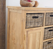 Load image into Gallery viewer, Reclaimed Wood Chest Of Drawers - 120cm Medium