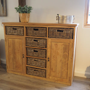 Reclaimed Wood Chest Of Drawers - Large