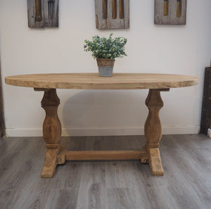Reclaimed Wood Dining Table - Oval - 120cm