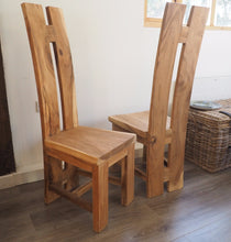 Load image into Gallery viewer, Natural Wood 'H' Dining Chair