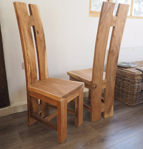 Natural Wood 'H' Dining Chair