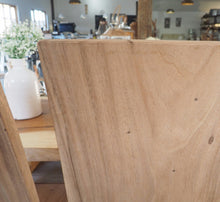 Load image into Gallery viewer, Natural Wood 'Block' Dining Chair