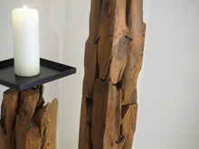 Load image into Gallery viewer, Extra Tall Reclaimed Wood Pillar Candle Holder