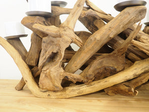 Teak Root Table Candle Holder