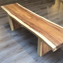 Load image into Gallery viewer, Suar Wood Bench Natural Shape - 150cm