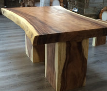 Load image into Gallery viewer, 150cm Natural Live Edge Table - Block Leg Table Only