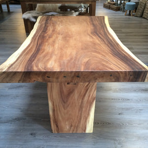 150cm Natural Live Edge Table - Block Leg Table Only