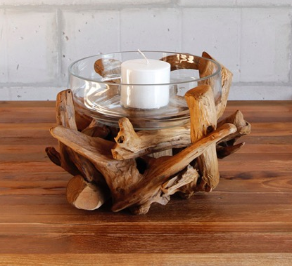 Teak Root Candle Holder - Vonte