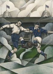 England v Scotland original artwork by Paine Proffitt