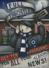 Get Yer Program - Full Throstle West Brom Program cover design season 2015-2016 by Paine Proffitt.