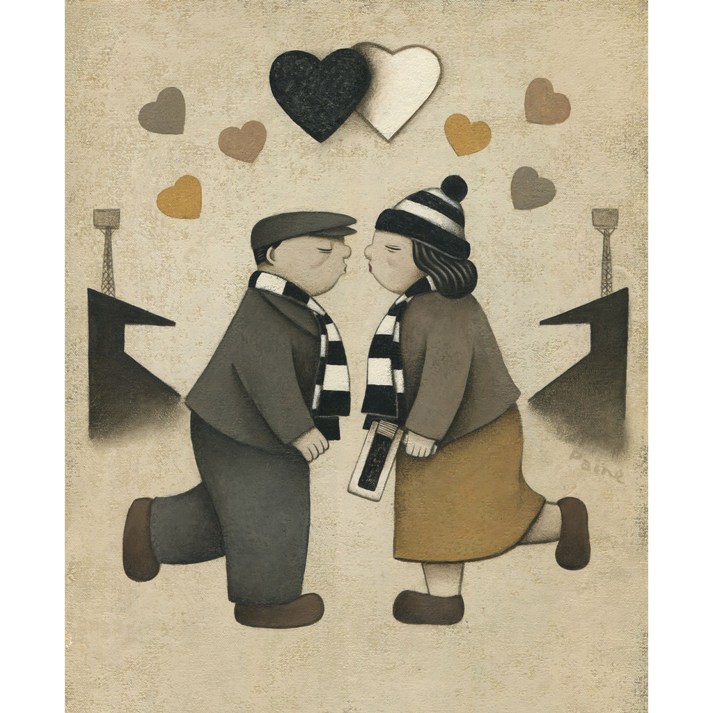 Newcastle United Gift Love on the Terraces Ltd Signed Football Print by Paine Proffitt | BWSportsArt