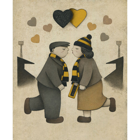 Harrogate Town Gift Love on the Terraces Ltd Signed Football Print by Paine Proffitt | BWSportsArt