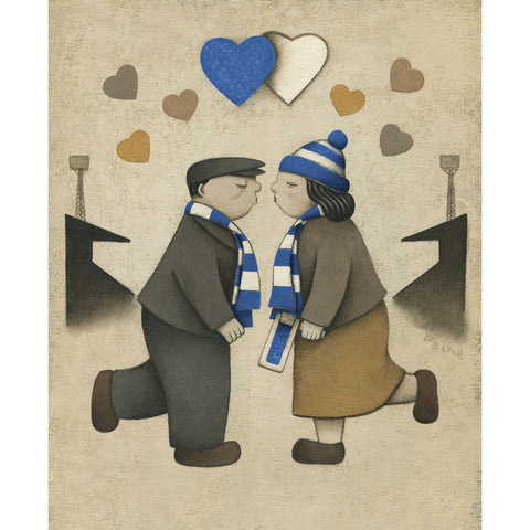 Bristol Rovers Gift Love on the Terraces Ltd Edition Football Print by Paine Proffitt | BWSportsArt