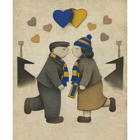 AFC Wimbledon Gift Love on the Terraces Ltd Signed Football Print by Paine Proffitt | BWSportsArt