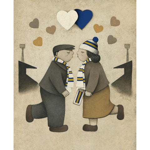 Leeds Gift Love on the Terraces Ltd Signed Football Print by Paine Proffitt | BWSportsArt