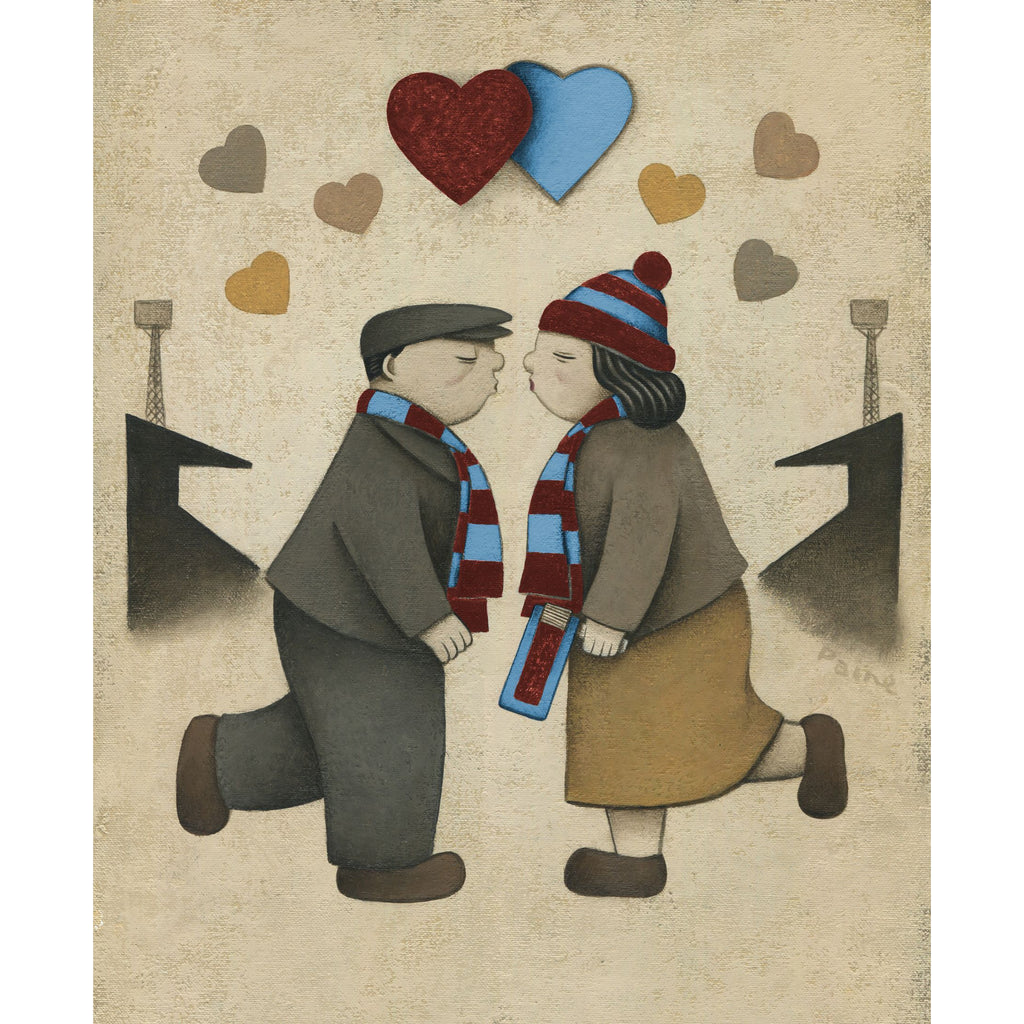 West Ham Gift Love on the Terraces Ltd Edition Football Print by Paine Proffitt | BWSportsArt