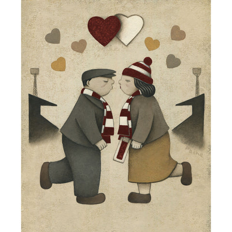 Hearts Gift Love on the Terraces Ltd Signed Football Print by Paine Proffitt | BWSportsArt
