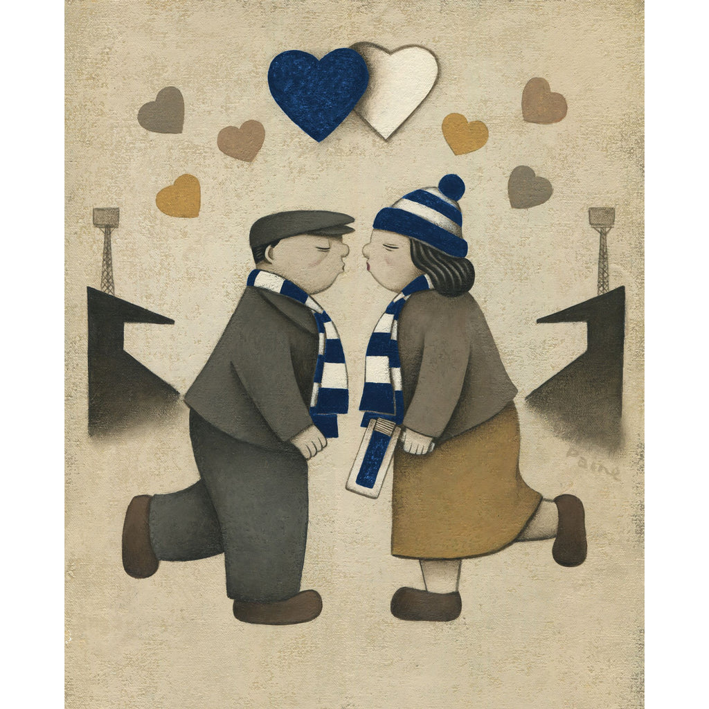 Dundee Gift Love on the Terraces Ltd Signed Football Print by Paine Proffitt | BWSportsArt