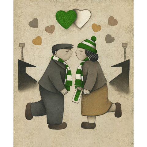 Hibernian Gift Love on the Terraces Ltd Signed Football Print by Paine Proffitt | BWSportsArt
