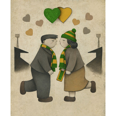 Norwich City Gift Love on the Terraces Ltd Signed Football Print by Paine Proffitt | BWSportsArt