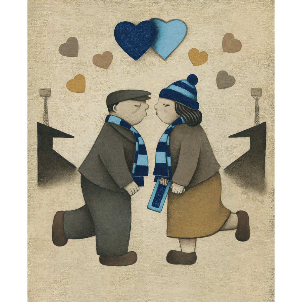 Wycombe Wanderers Gift Love on the Terraces Ltd Signed Football Print by Paine Proffitt | BWSportsArt