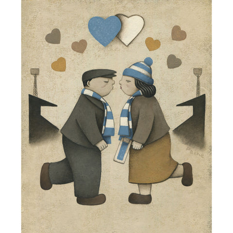 Manchester City Gift Love on the Terraces Ltd Edition Football Print by Paine Proffitt | BWSportsArt