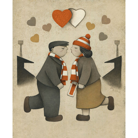Luton Town Gift Love on the Terraces Ltd Signed Football Print by Paine Proffitt | BWSportsArt