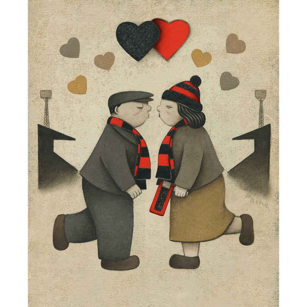 Bournemouth Gift Love on the Terraces Ltd Signed Football Print by Paine Proffitt | BWSportsArt