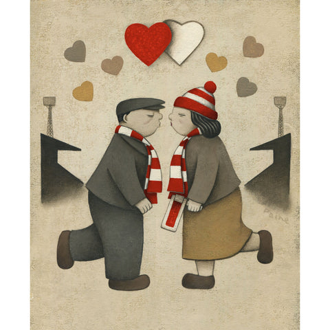 Man Utd Gift Love on the Terraces Ltd Signed Football Print by Paine Proffitt | BWSportsArt