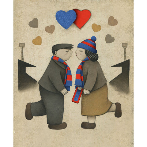 Inverness CT Gift Love on the Terraces Ltd Signed Football Print by Paine Proffitt | BWSportsArt