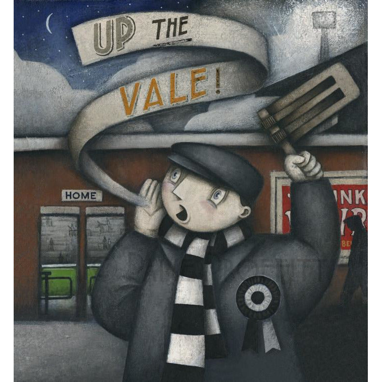 Port Vale Gift - Port Vale Up The Vale Night Match Ltd Edition Signed Football Print