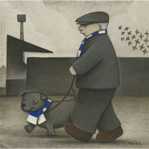 Cardiff City Gift Walkies Ltd Edition Football Print by Paine Proffitt | BWSportsArt
