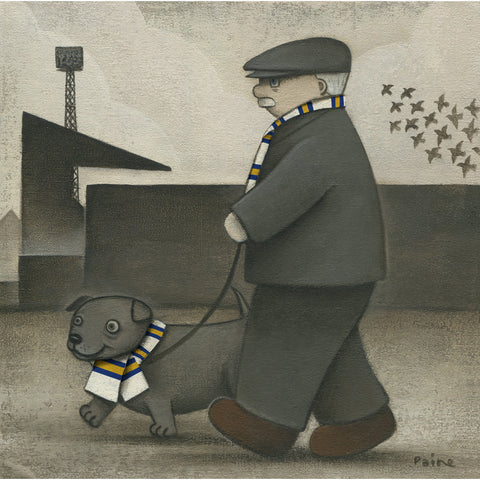Leeds Gift Walkies Ltd Signed Football Print by Paine Proffitt | BWSportsArt