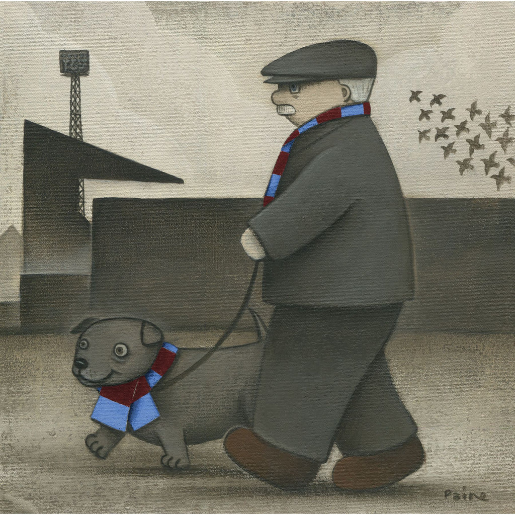 Aston Villa Gift Walkies Ltd Edition Football Print by Paine Proffitt | BWSportsArt
