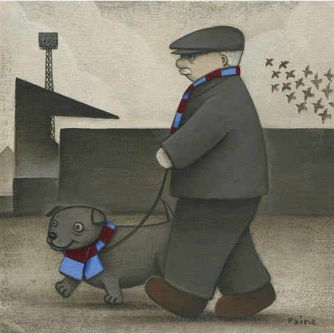West Ham Gift Walkies Ltd Edition Football Print by Paine Proffitt | BWSportsArt