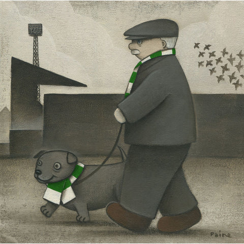 Celtic Gift Walkies Ltd Signed Football Print by Paine Proffitt | BWSportsArt