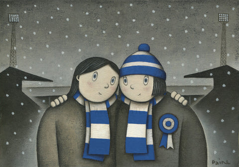 Peterborough Giftwith her on a Saturday Ltd Edition Football Print by Paine Proffitt | BWSportsArt