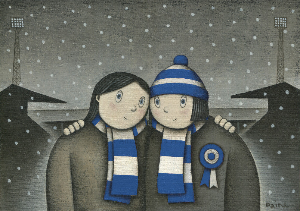 Bury Giftwith her on a Saturday Ltd Edition Football Print by Paine Proffitt | BWSportsArt