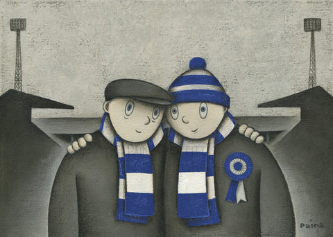 Brighton and Hove Albion Gift With Him On a Saturday Ltd Edition Football Print by Paine Proffitt