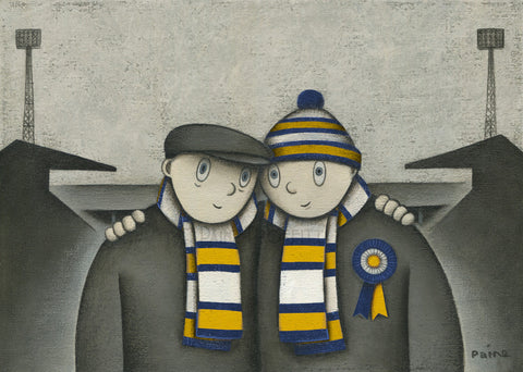 Leeds Gift With Him On a Saturday Ltd Signed Football Print by Paine Proffitt