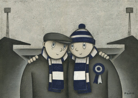 Dundee Gift With Him On a Saturday Ltd Signed Football Print by Paine Proffitt