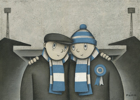 Manchester City Gift With Him On a Saturday Ltd Edition Football Print by Paine Proffitt