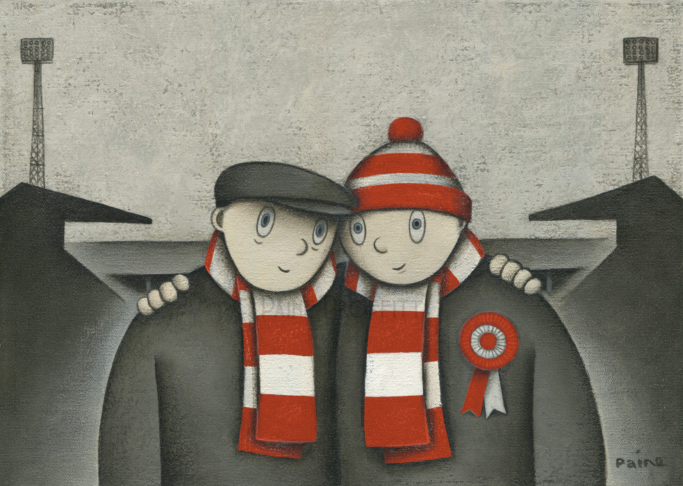 Aberdeen Gift With Him On a Saturday Ltd Signed Football Print by Paine Proffitt