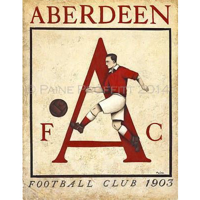 Aberdeen AFC 1903 Ltd Edition Print by Paine Proffitt | BWSportsArt
