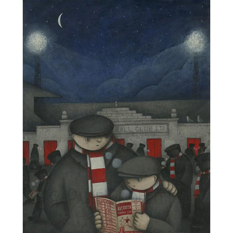 Aberdeen Gift -  A Cold Night at Pittordrie Ltd Edition Signed Football Print Ltd Edition Print Football Gift